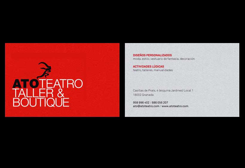 Tarjeta de Ato Teatro Taller & Boutique